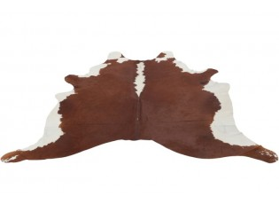 Kravská kůže s hnědým pálením - 230*240cm