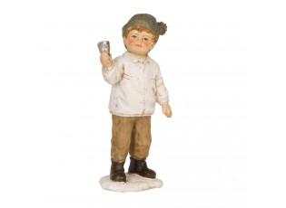 Dekorační figurka chlapce se zvonkem - 12cm