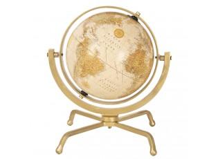 Otočný dekorační globus se zlatým podstavcem Morgause - Ø 29*31 cm