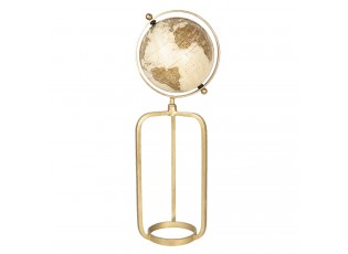 Dekorační globus s vysokým zlatým stojanem Morgause - 23*20*63 cm