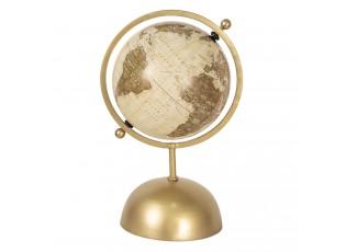 Otočný dekorační glóbus na zlatém kovovém podstavci Reine - 24*20*37 cm