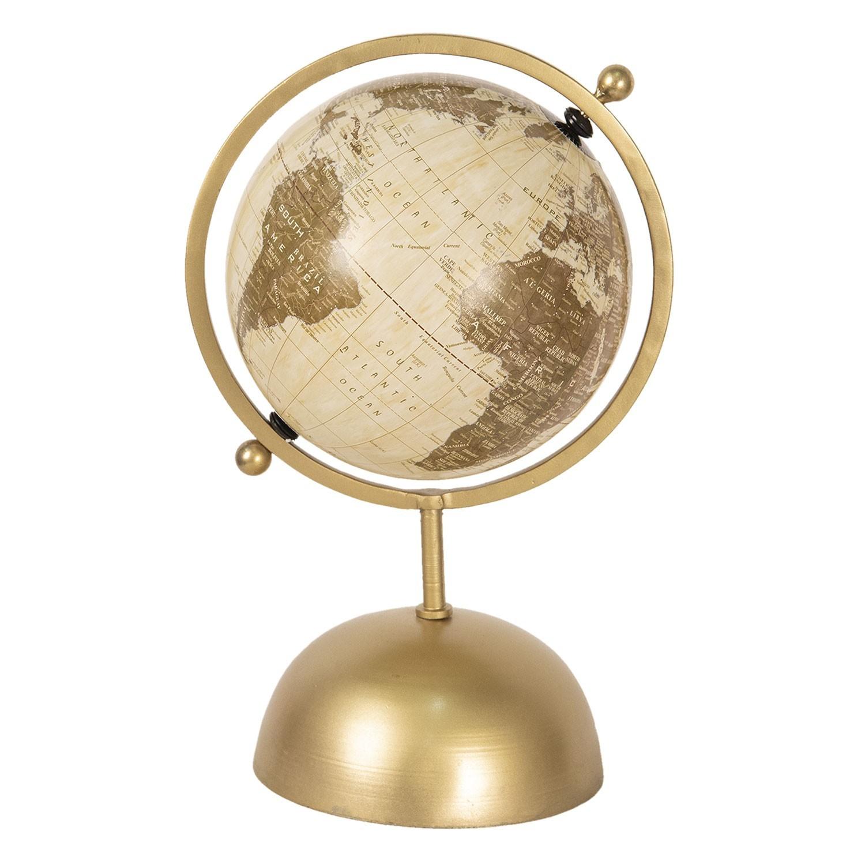 Otocny Dekoracni Globus Na Zlatem Kovovem Podstavci Reine 24 20 37 Cm Lahome Cz