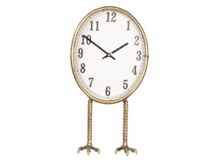 Zlaté stolní hodiny na kuřích nožkách - 28*12*36 cm / 1*AA