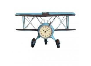 Stolní hodiny ve tvaru letadla - 30*14*18 cm / 1xAAA