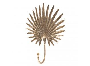 Zlatý kovový háček na zeď - 19*6*14 cm