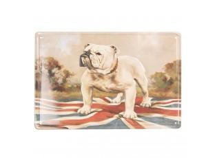 Kovová farebná ceduľa s psíkom - 20 * 30 cm