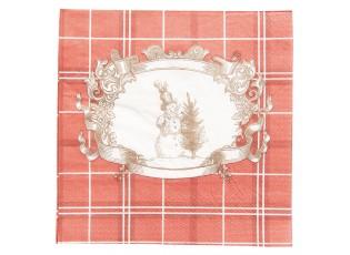 Vánoční papírové ubrousky sněhulák - 33*33 cm (20)