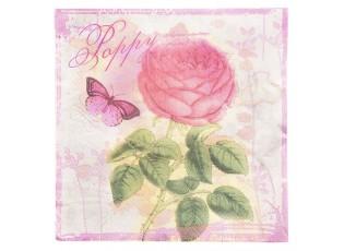 Papírové ubrousky růže - 33*33 cm (20)