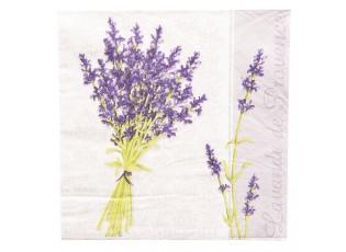 Papírové ubrousky levandule - 33*33 cm (20)
