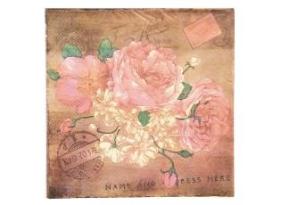 Papírové ubrousky květiny - 33*33 cm (20)