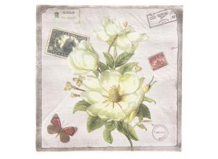 Papírové ubrousky květy - 33*33 cm (20)