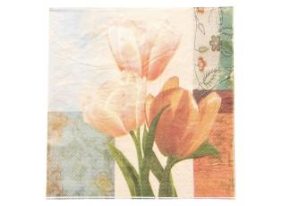 Papírové ubrousky tulipány - 33*33 cm (20)