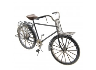 Kovový retro model bicyklu s nosiči - 29*17*11 cm