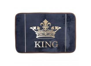Tmavě modrá koupelnová předložka King - 60*40*1 cm