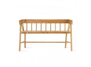 Přírodní zahradní lavice - 123*45*72 cm