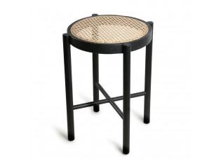 Černý retro dřevěný stolek Webbing - 35*35*50 cm