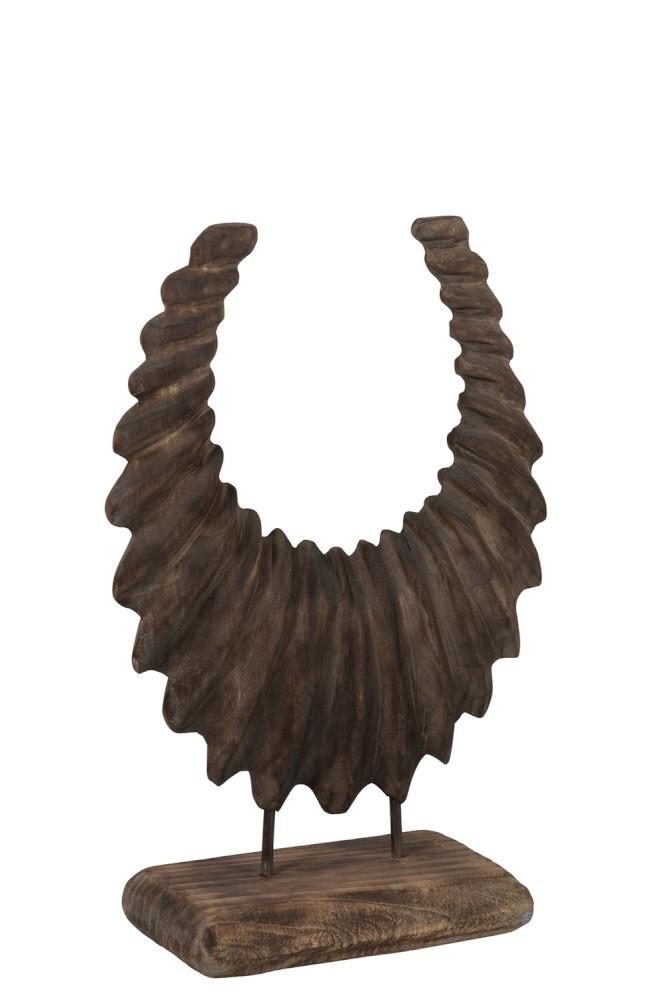 Dekorace na hornÍ kruh v dŘevĚ dŘevĚnÉ dŘevĚnÉ - 34*48*13 cm