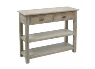 Konzolový dřevěný stůl s patinou- 100*37*81 cm