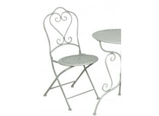 Kovová skládací zahradní židle zelená - 48*40*93 cm