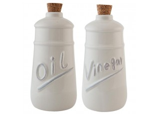Sada přírodní láhev na olej a ocet -  Ø 9*19 cm / 2x 0,6 L