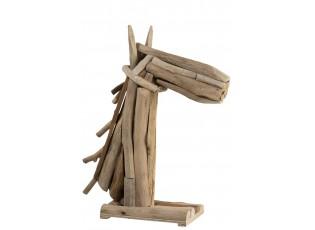 Dřevěná dekorace hlava koně Philibert - 24,75*10,5*28,75 cm