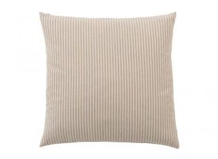 Béžovo-bílý proužkovaný polštář Bandes - 45*45 cm
