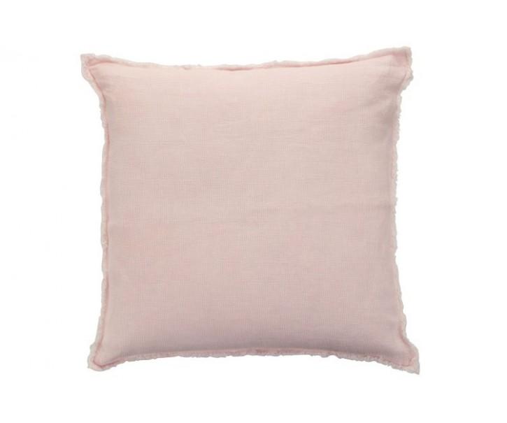 Růžový polštář s opraným designem Stonewashed - 45*2*45 cm
