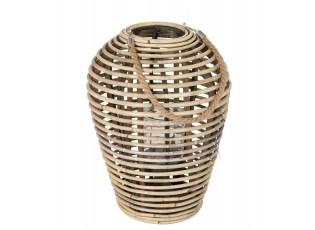 Přírodní ratanová lucerna Egg - 12*31*40 cm