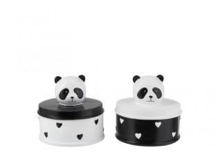 2x box Panda - Ø10*11 cm