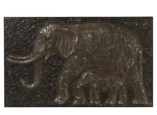 Kovový obraz Sloni - 102*8*62 cm