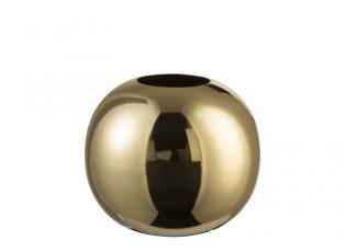 Zlatá váza Ball lesklá - 18*18*20 cm