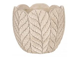 Betonový obal na květináče ve tvaru listů - Ø 11*10 cm