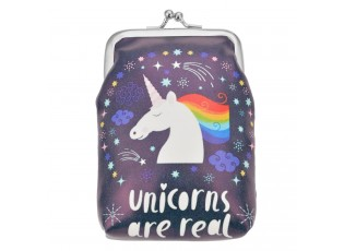 Malá fialová peněženka Unicorn - 9*14 cm