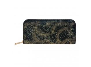 Černá peněženka se zlatým zdobením - 19*9 cm