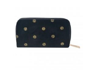 Černá peněženka se zlatými puntíky - 14*8 cm