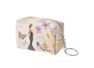 Malá peněženka s dámou - 11*6*5 cm