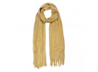 Zlato hnědá šálka - 50*170 cm