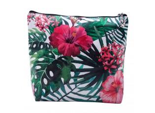 Toaletní taška s výraznými květy - 24*18 cm