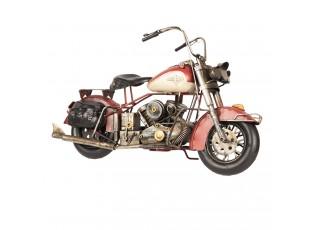 Velký kovový retro model motorky - 42*17*24 cm