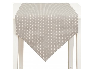 Béžový běhoun na stůl s kvězdičkami - 50*160 cm