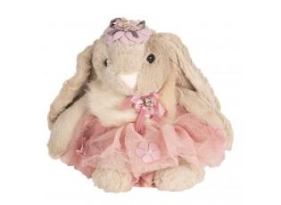 Plyšový králíček v sukni- 28 cm