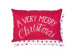 Červený povlak na polštář Merry Christmas- 35*50 cm