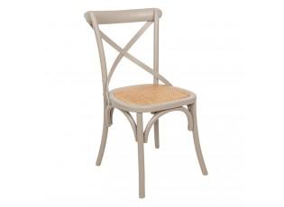 Šedá dřevěná židle s patinou Retro - 46*42*87 cm