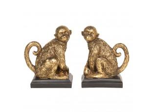 Zlaté zarážky na knihy opice - 31*11*19 cm
