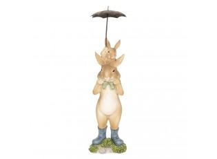 Dekorace králíci pod deštníkem - 8*7*25 cm