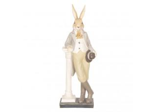 Velikonoční dekorace králíka s kloboukem - 17*9*46 cm