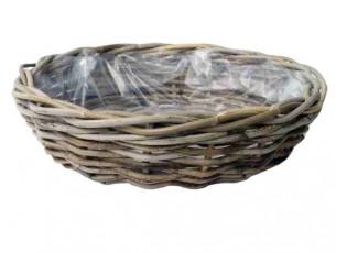 Kulatý ratanový květináč /koš  - Ø40*12 cm