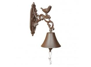 Litinový zvonek s ptáčkem Bird - 10*19*24cm