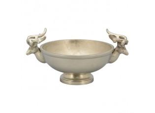 Stříbrná mísa s jeleny - 30*23*10 cm