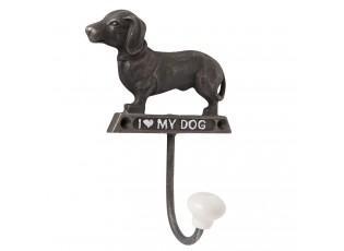 Kovový háček I love my dog - 10*5*14 cm